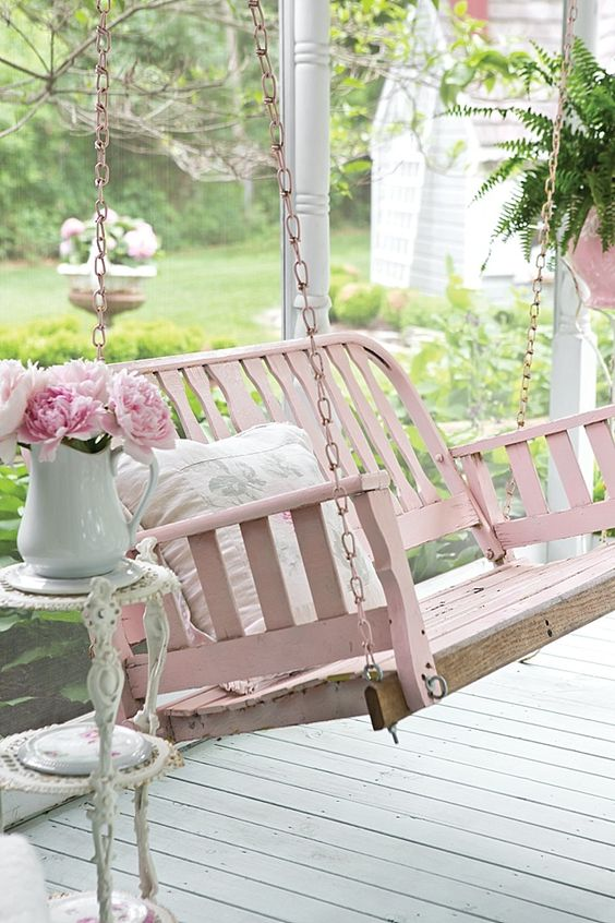 Create a Cozy Porch Area with Swings.
