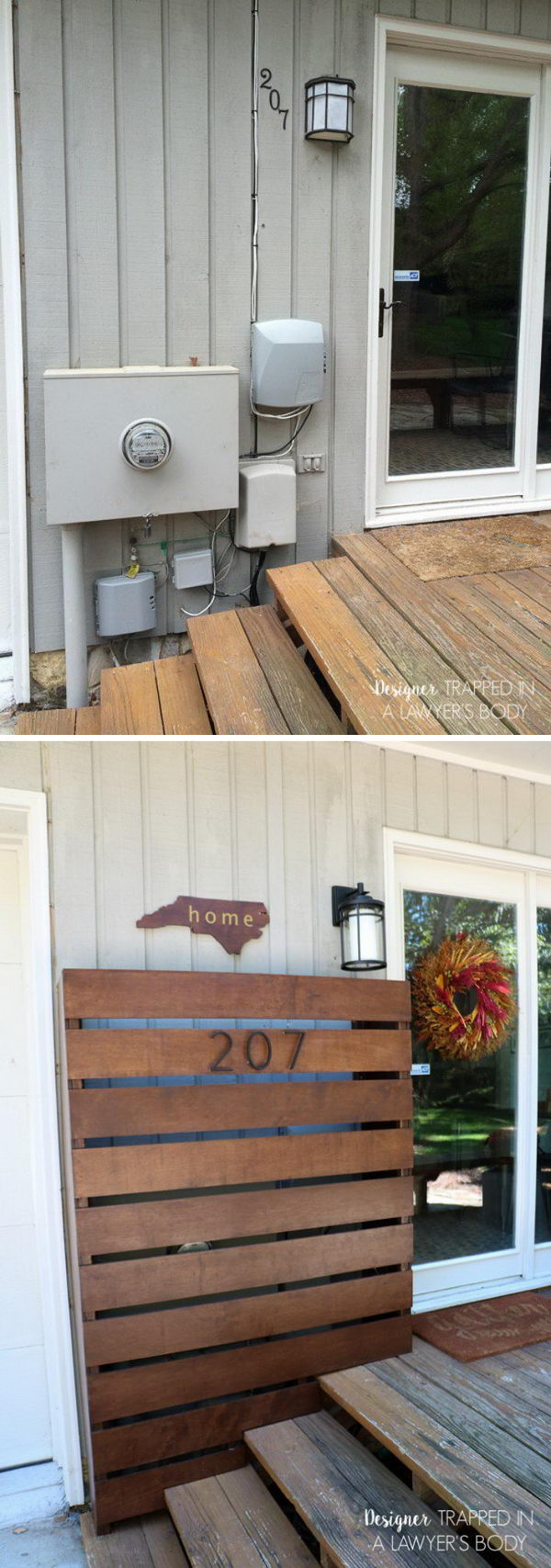 Accessorize a Giant Eye Sore with DIY Rustic Box Cover.