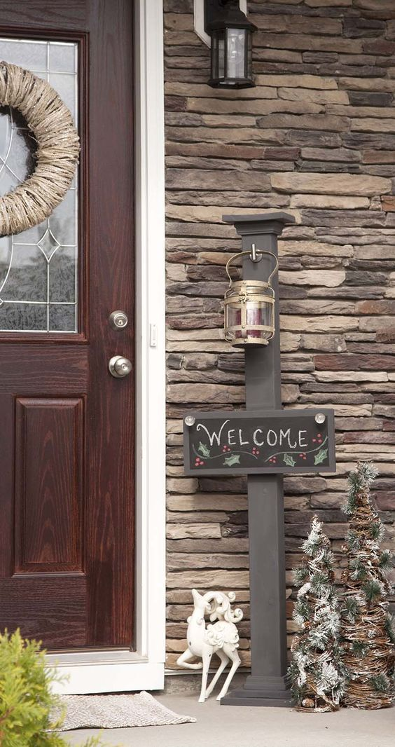 Make an Outdoor Post for Hanging Signs.