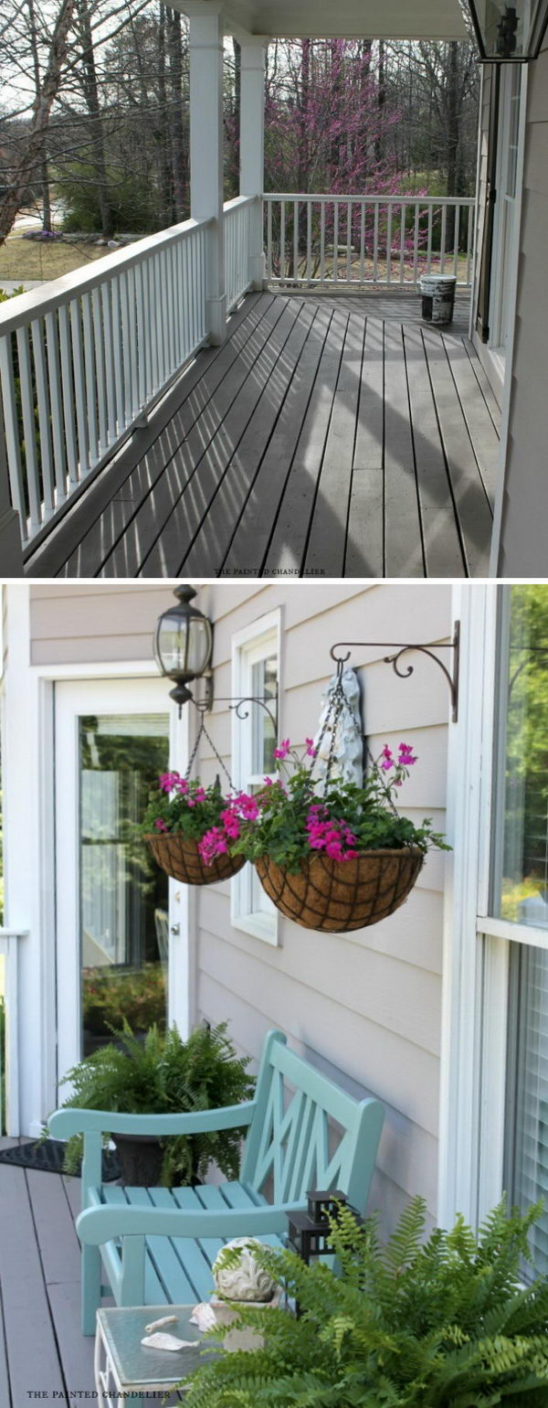 Make Your Porch More Inviting with Built in Plant Hangers.