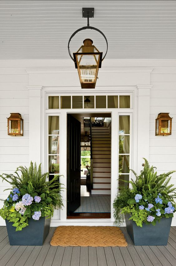 Make a Big Difference by Updating the Front Entry Lighting.