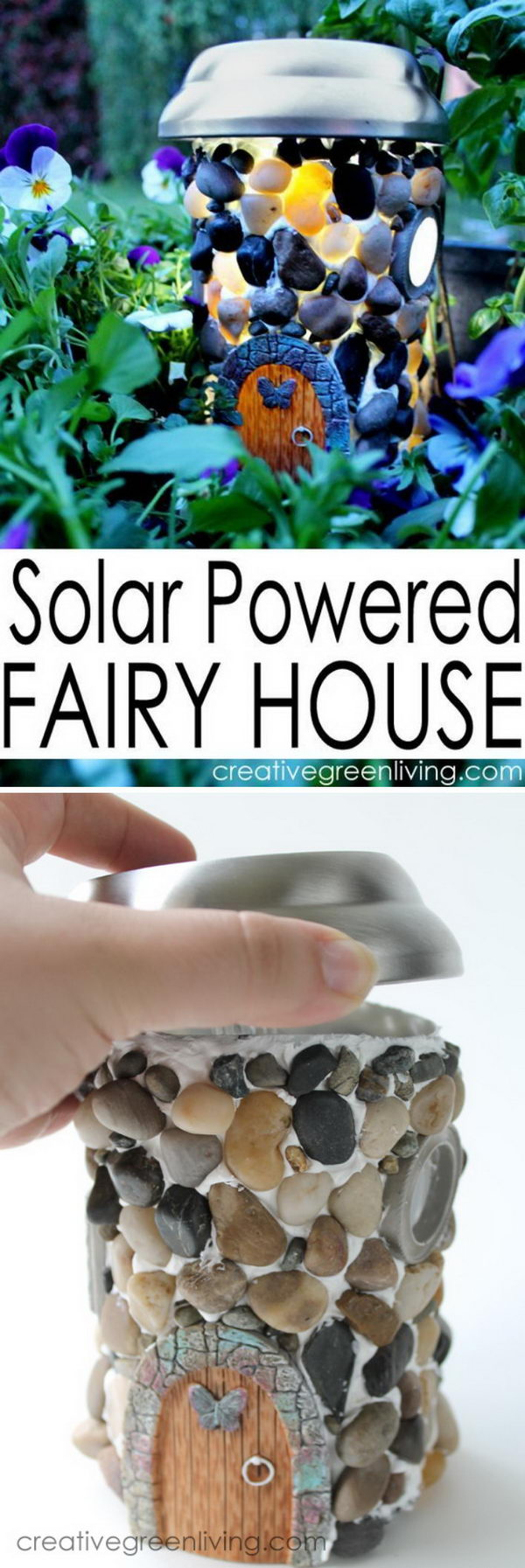 DIY Solar Powered Fairy House.