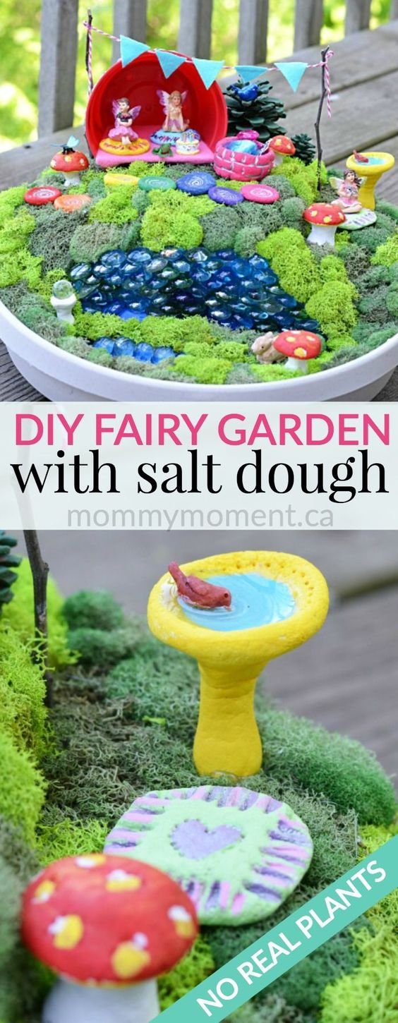 DIY Fairy Garden & Salt Dough Fairy Garden Accessories.