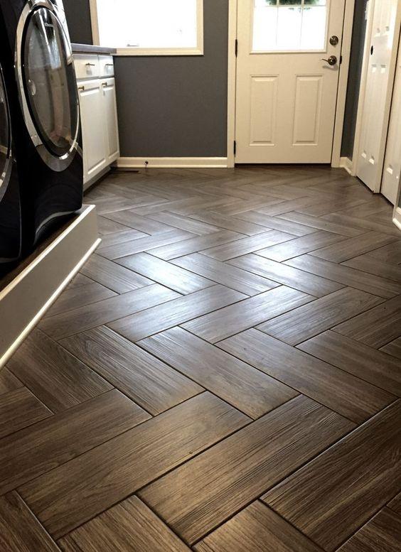 Herringbone Pattern Wood Tile.