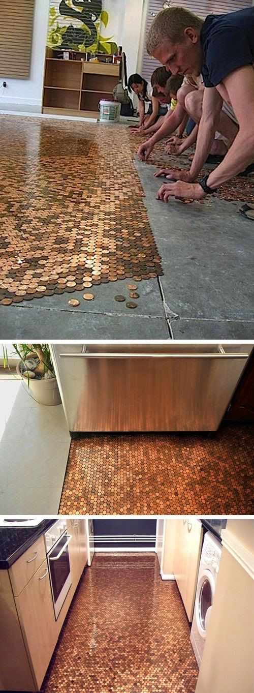 DIY Penny Floor.