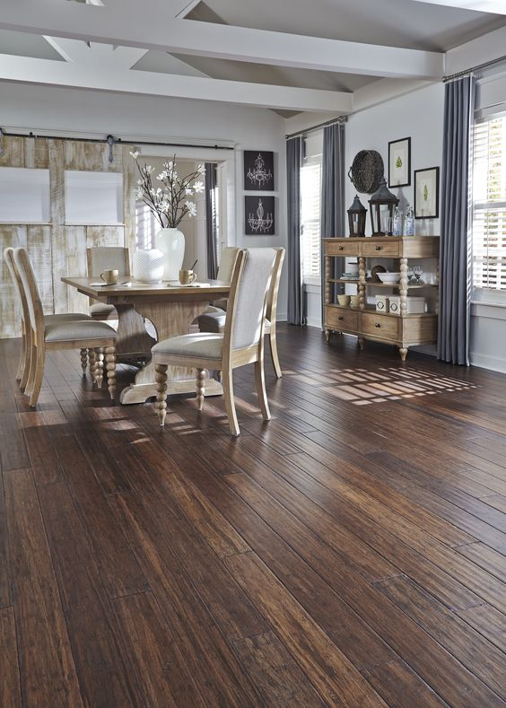 Distressed Bamboo Flooring.