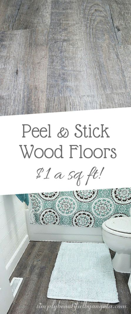 Peel and Stick Wood Look Vinyl Flooring.