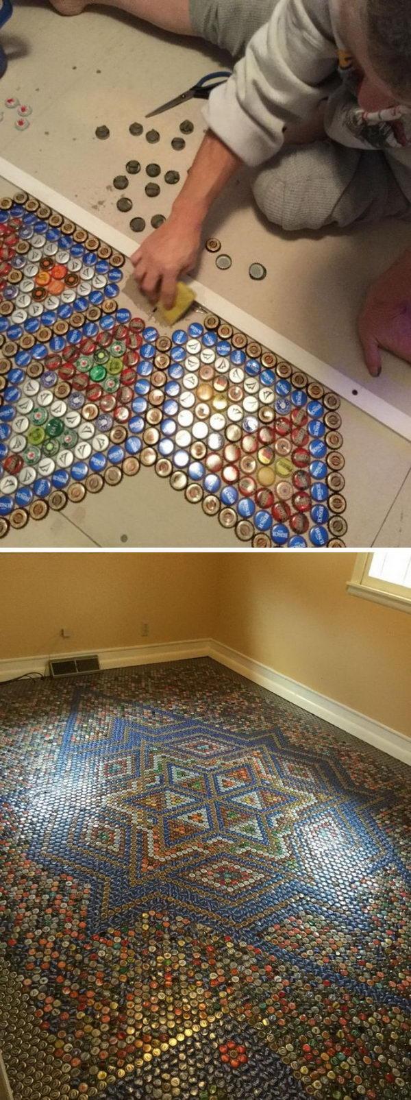 Bottle Cap Flooring.