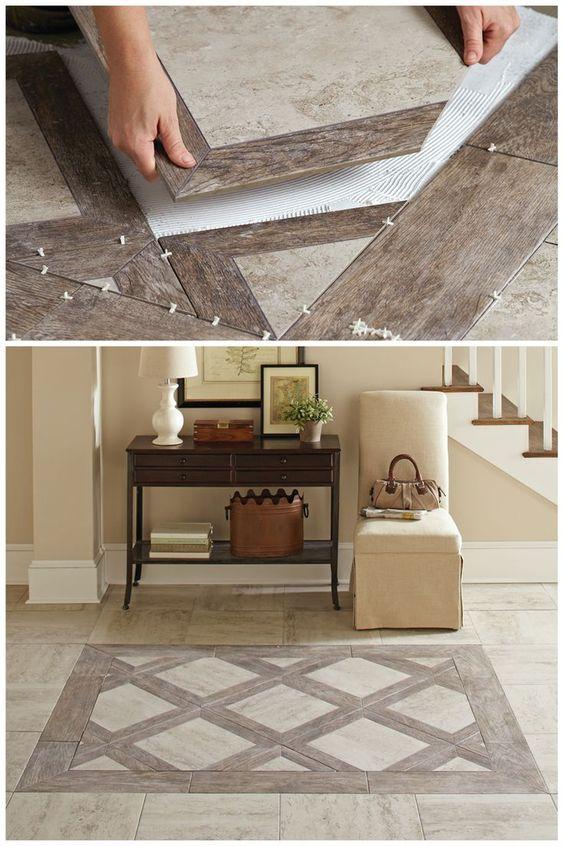 Rustic Stone Tile Flooring.