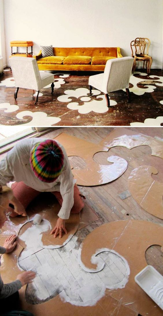 Stenciled Floor.