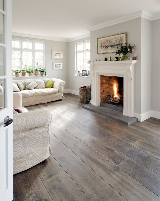 Natural Grey Oak Wooden Floor.