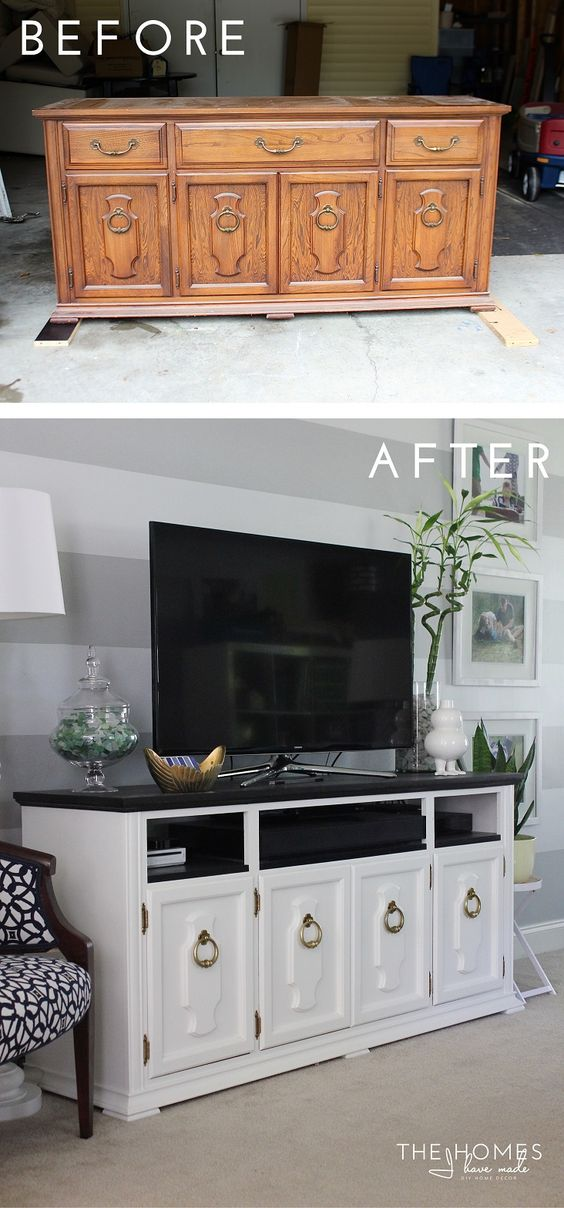 TV Stand Made from an Old Dresser.