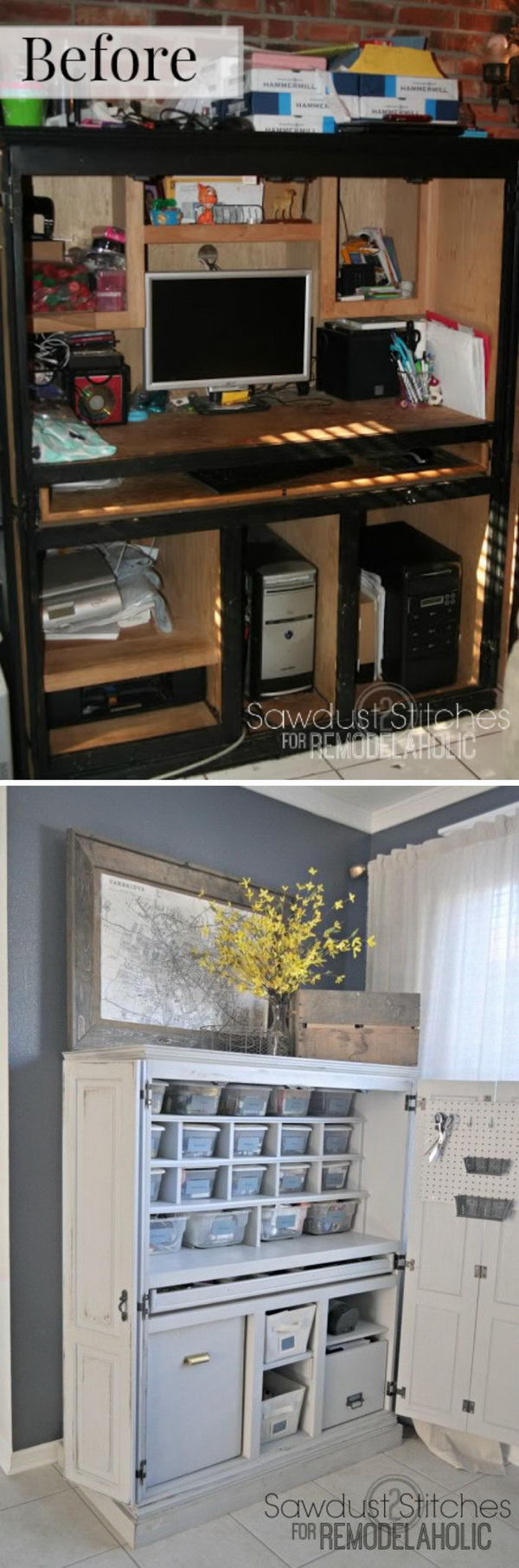 DIY Craft Cabinet Makeover.