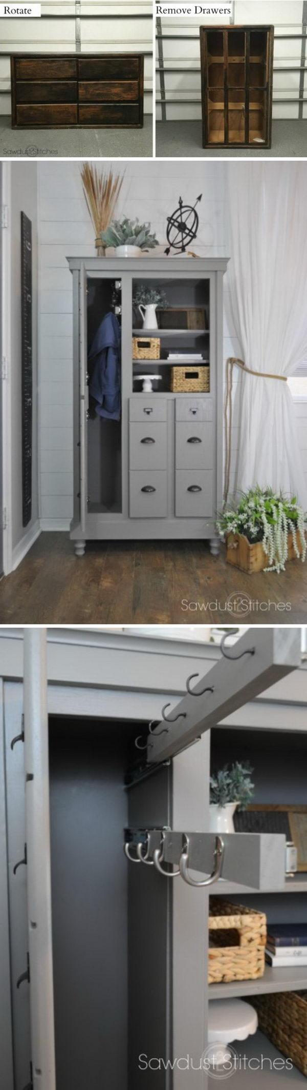 Charmant Dresser Makeover Into A Mini Mudroom