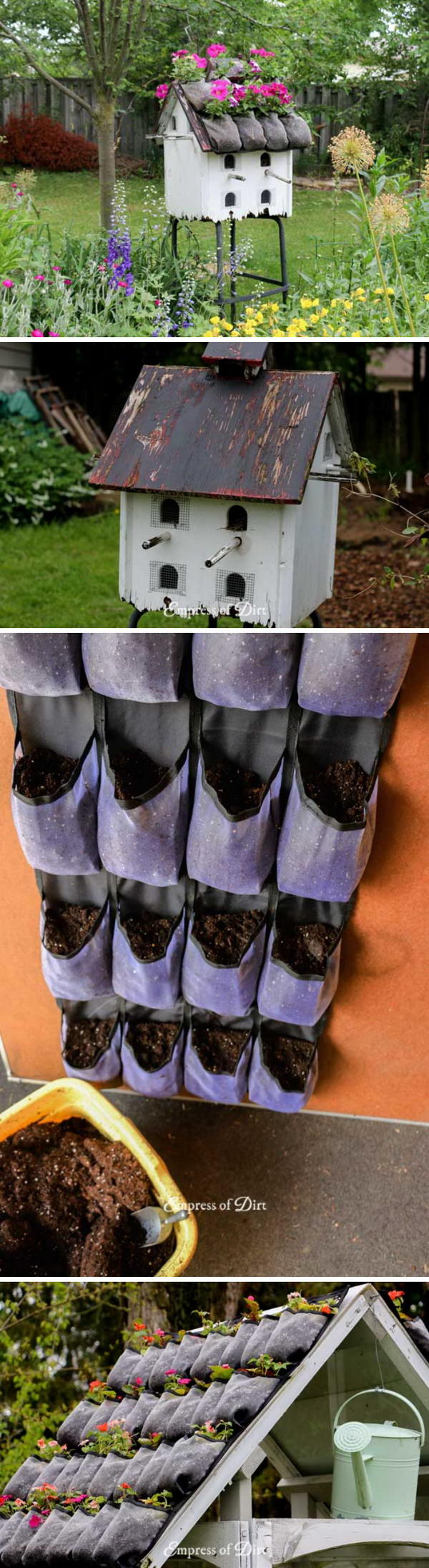 Add a Flower Top Roof to Mini Greenhouse.