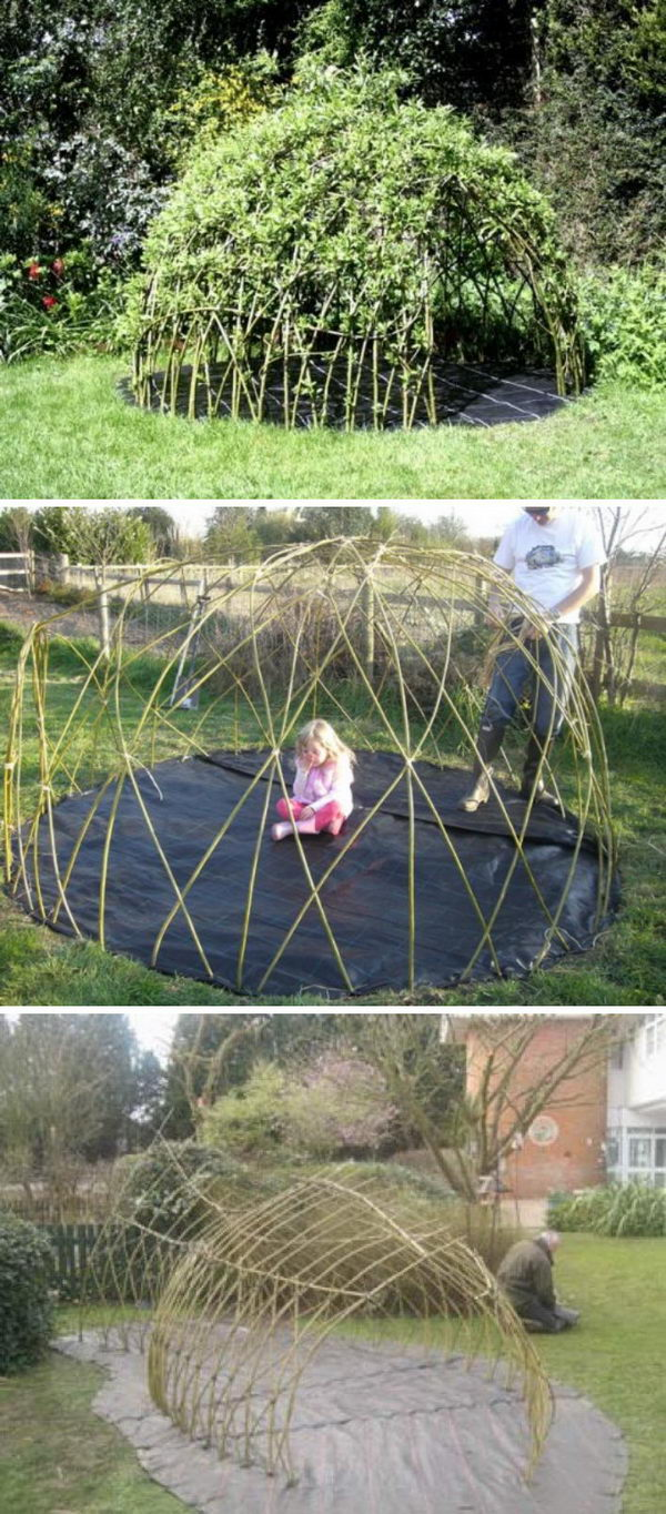 how to make a willow playhouse