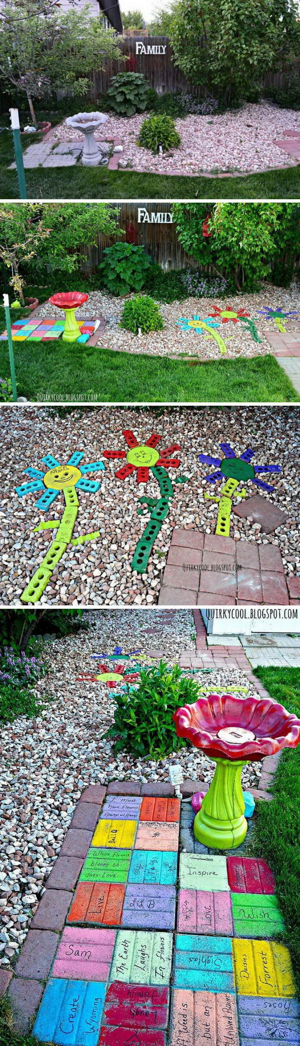 Brighten Up a Garden with Painted and Personalized Pavers.