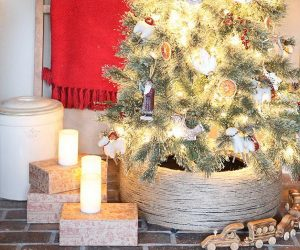 30 Creative Christmas Tree Stand DIY Ideas