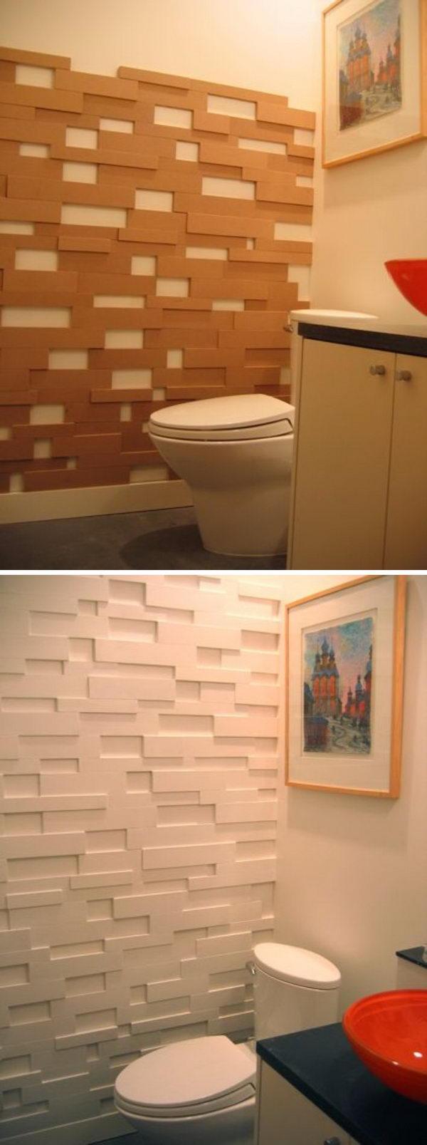 3D Effect Wallpaper Accent Wall.