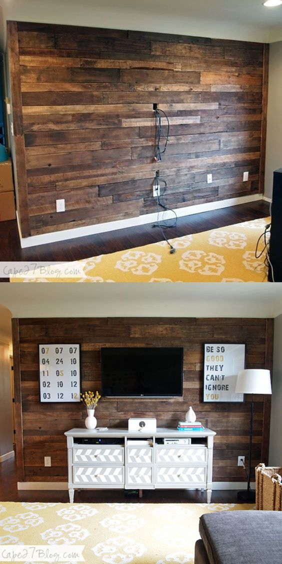 DIY Pallet Accent Wall.