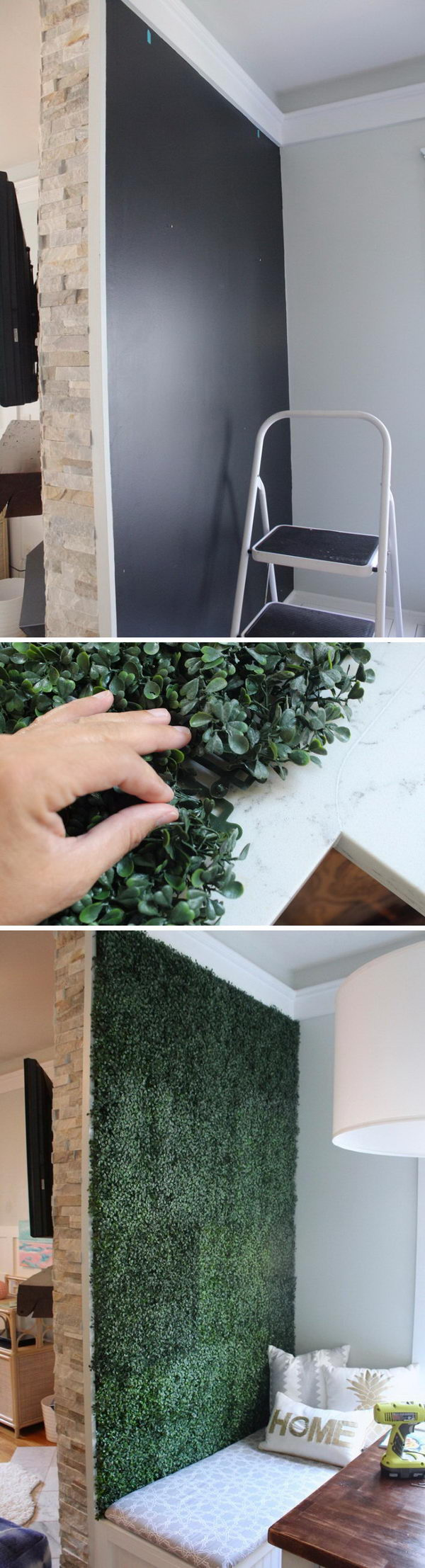 Artificial Boxwood Accent Wall.