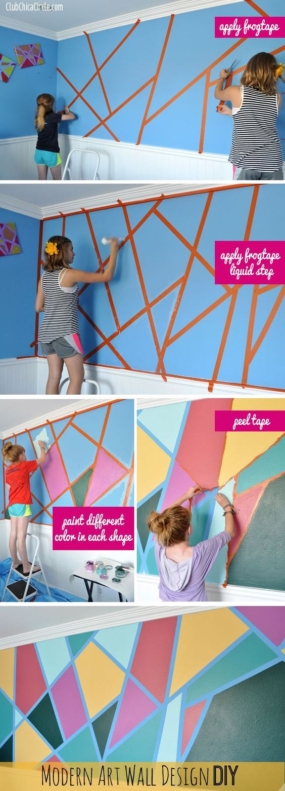 DIY Geometric Shape Wall.