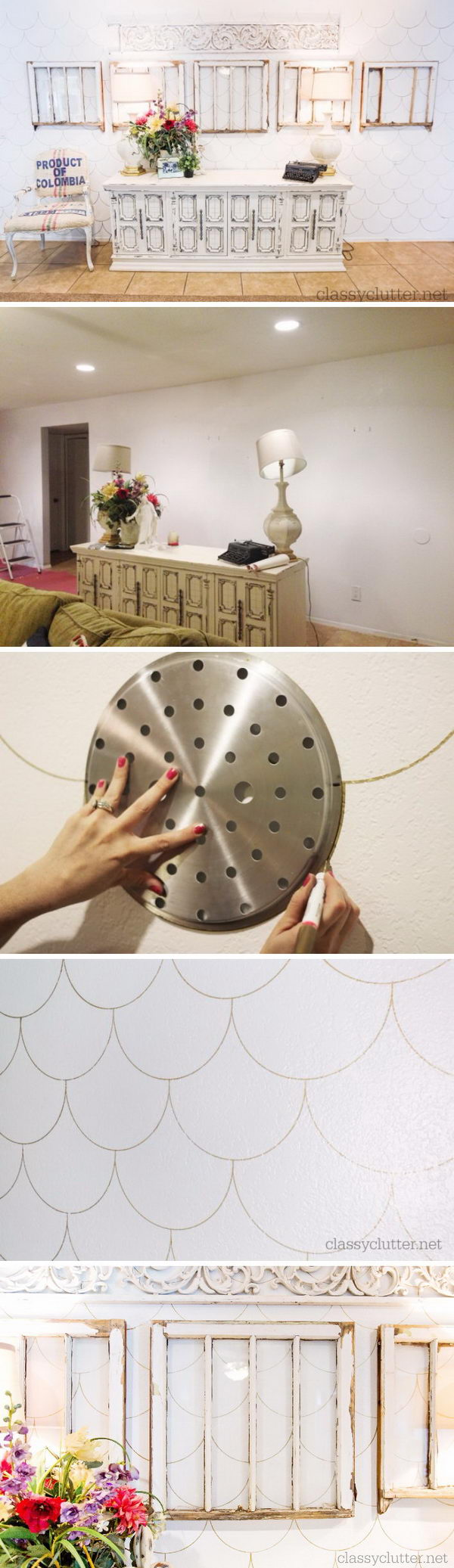 DIY Scalloped Accent Wall.