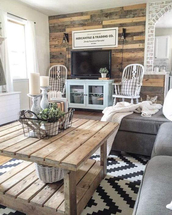 Recycled Rustic Barnwood Accent Wall.