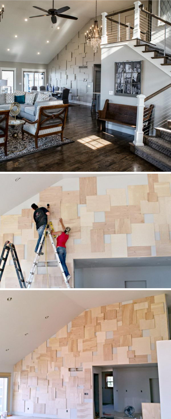 DIY Accent Wall with Plywood.