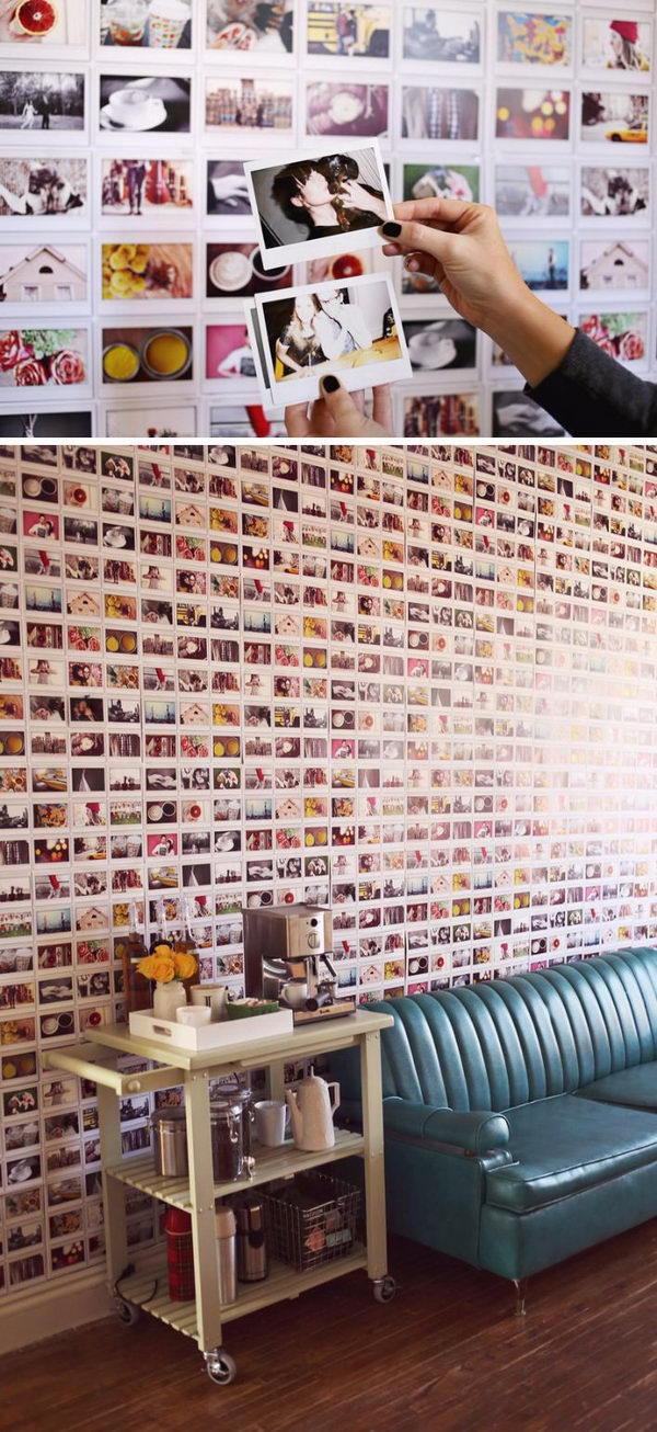 DIY Instax Wallpaper.