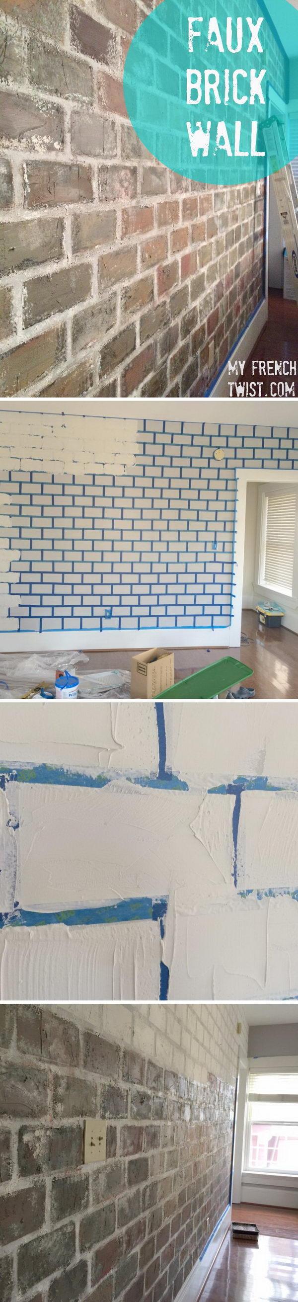 DIY Faux Brick Wall.