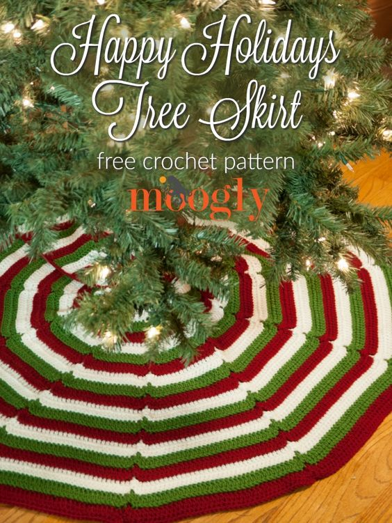 Crochet Christmas Tree Skirt Pattern.