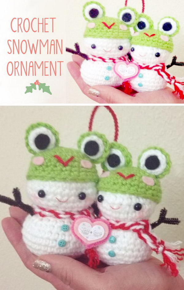 Christmas Crochet Snowman Amigurumi  Video Tutorial.