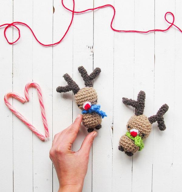 Crochet Amigurumi Rudolph Christmas Free Pattern.