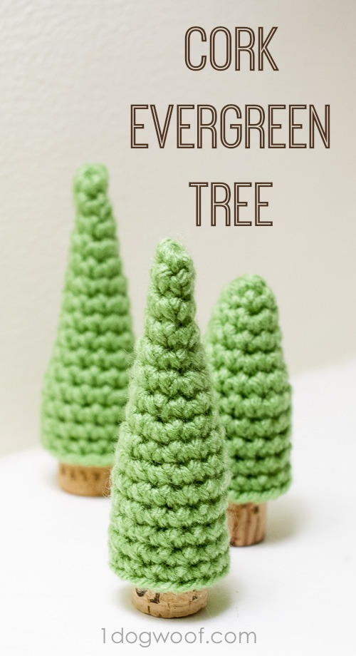 Cork Pine Tree Crochet Patterns.