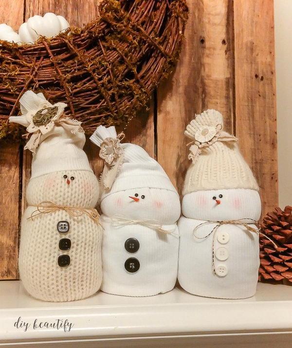 DIY Sweater Snowmen.