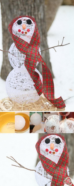 DIY Sugar String Snowman.