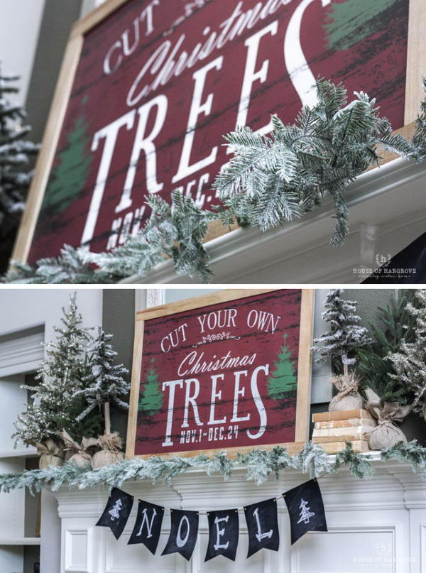 DIY Christmas Mantels Decoration.