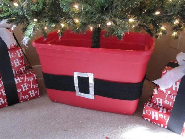 DIY Storage Box Bin Christmas Tree Stand.