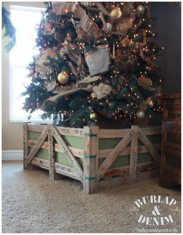 30 creative christmas tree stand diy ideas hative for Tree stand ideas