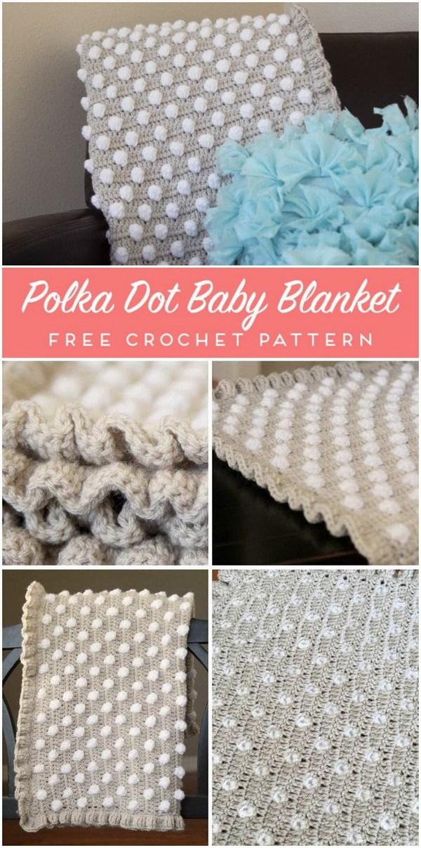 Crochet Baby Blanket Pattern: The Polka Dot Puff.