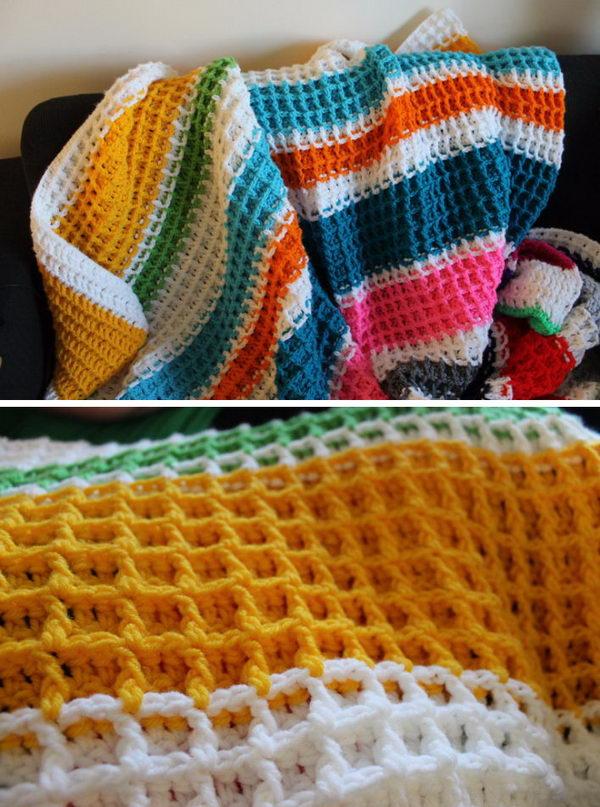 Waffle Stitch Crochet Free Crochet Pattern.