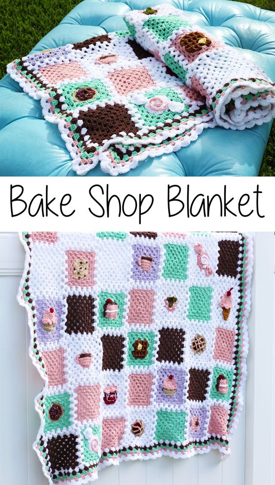 Bake Shop Blanket Free Crochet Pattern.