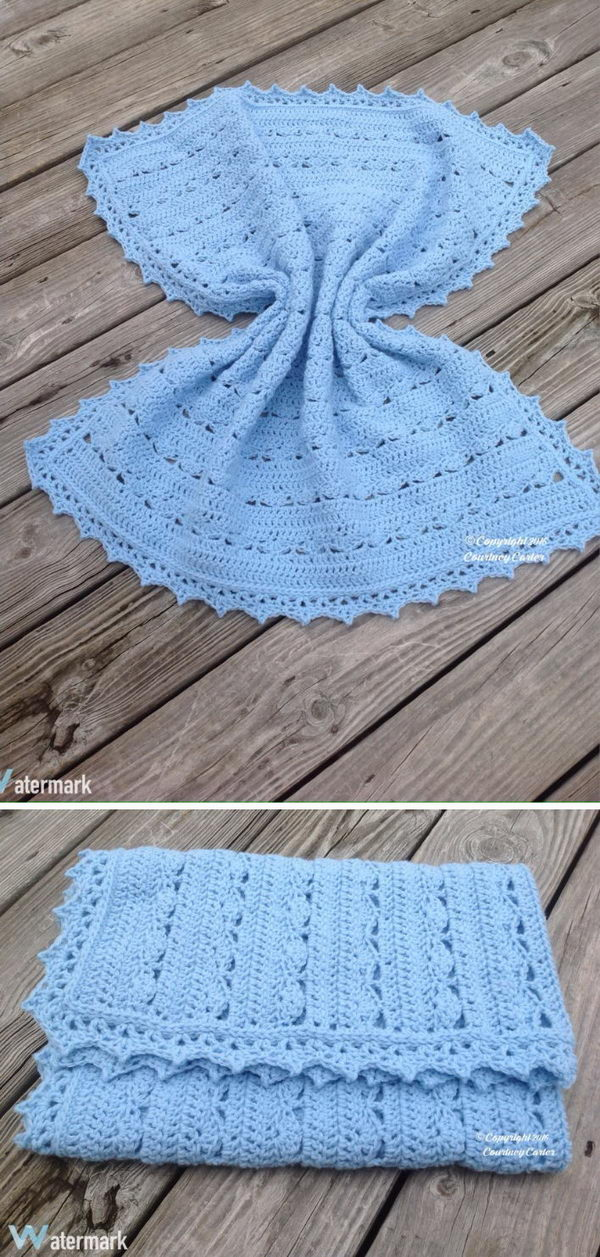 Simply Stunning Baby Blanket Free Crochet Pattern.