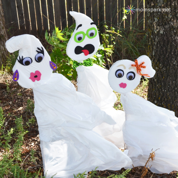 Cute Trash Bag Ghosts.