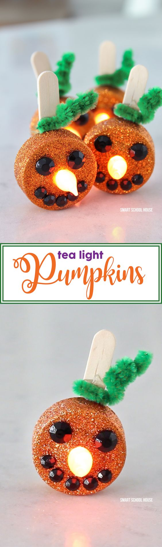 Tea Light Pumpkins.