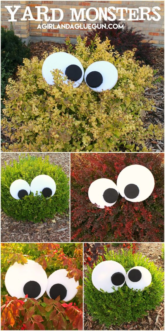 easy yard monsters - Halloween Decorations For Kids To Make