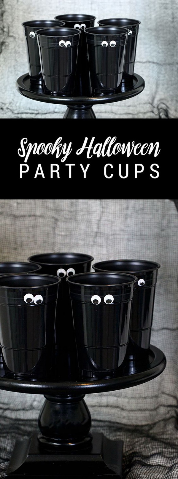 DIY Spooky Halloween Party Cups.
