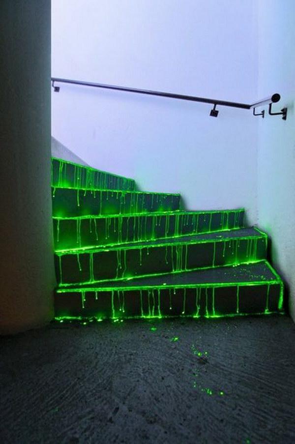 DIY Glowing Stairs.