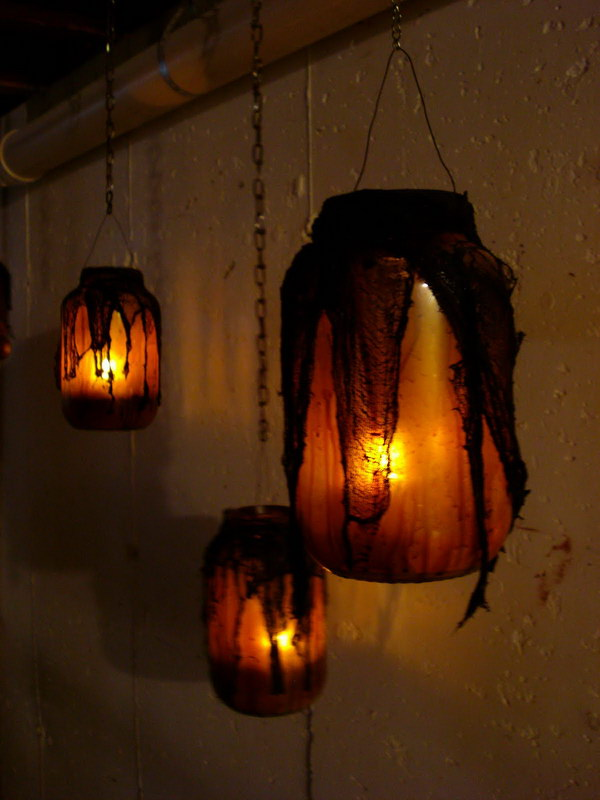 halloween lighting. diy witch mason jars halloween lighting